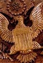 Wood carving of U.S. seal was found bugged at the U.S. Embassy in Moscow.