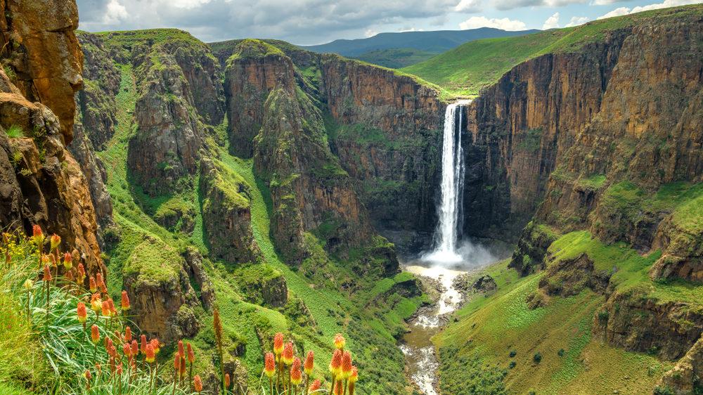 Maletsunyane Falls in Lesotho Africa. [Shutterstock]
