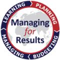 logo for managing for results with text in center and ring of quarter rocker titles including managing, learning, planning and budgeting with planning highlighted [State Department Image] 3/27/2017