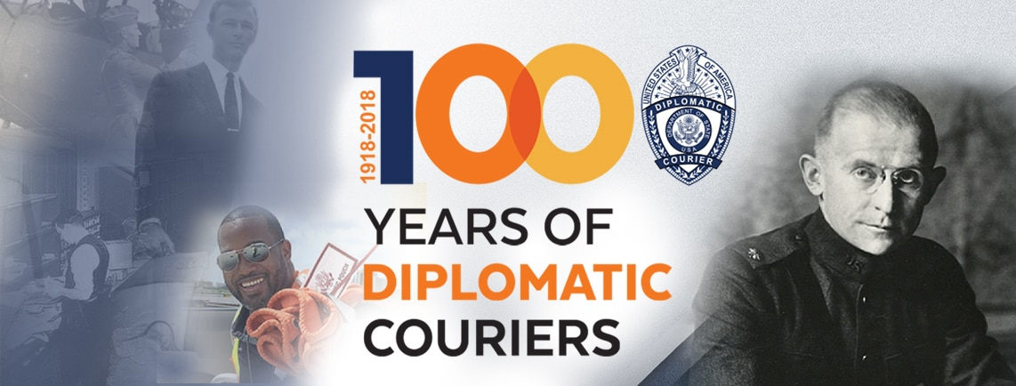 Diplomatic Courier 100 Years Banner