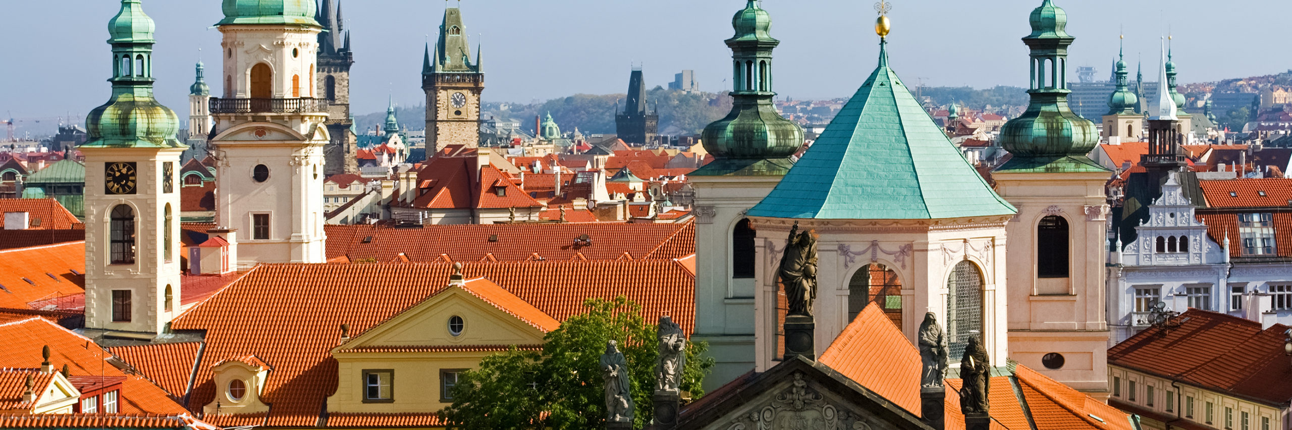 Rooftops of old Prague from high view point - Image