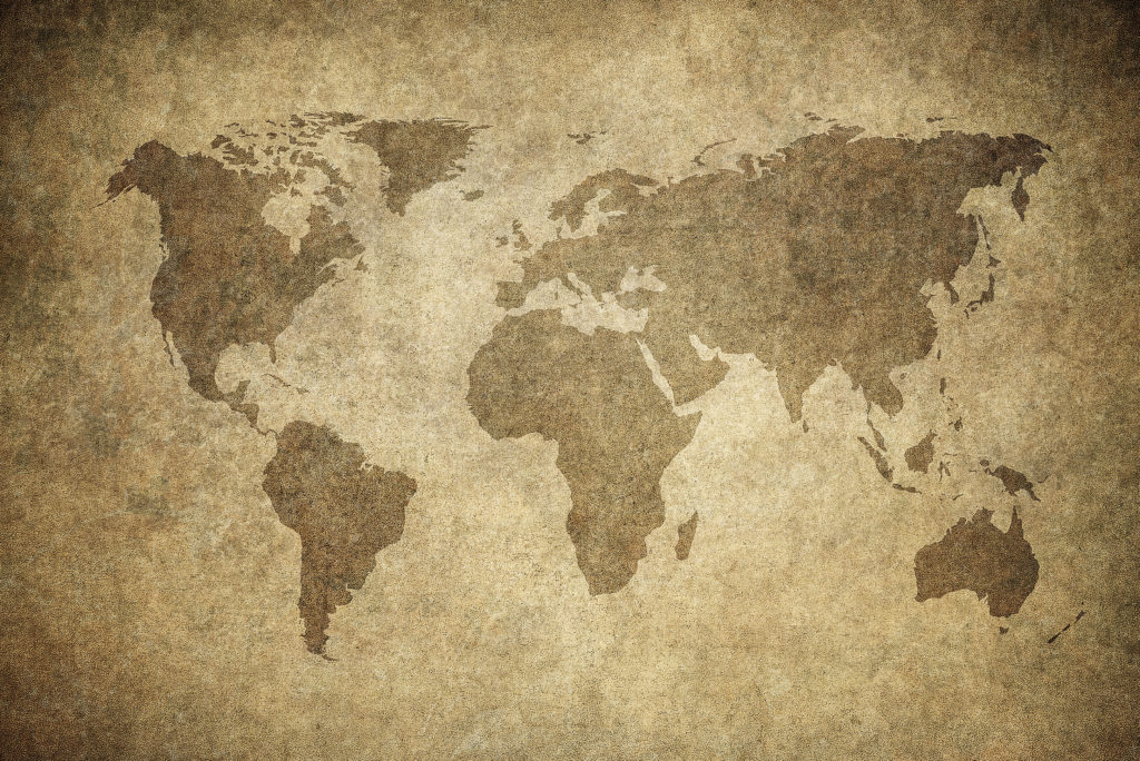 grunge map of the world - Image