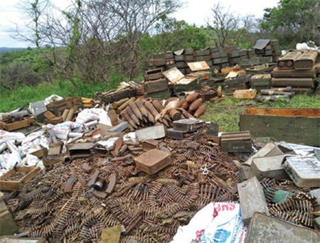 Date: 2019 Description: RESCA helped the Uganda People's Defense Force to destroy 100 tons of excess munitions. © Photo courtesy of RECSA
