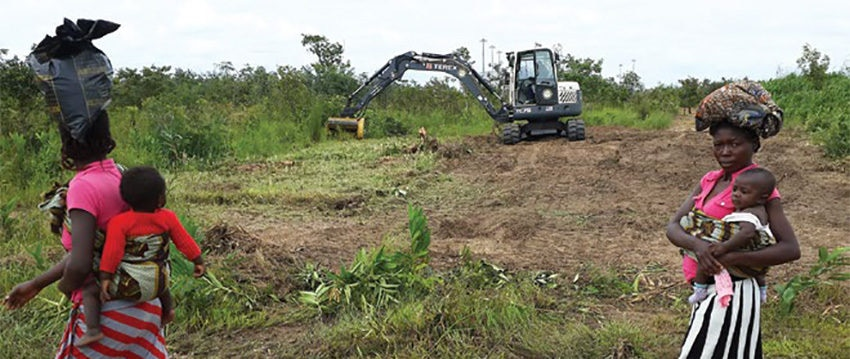 Date: 2019 Description: Field testing of the Rex, a versatile, lightweight armored excavator, working in Angola. © Photo courtesy of HALO