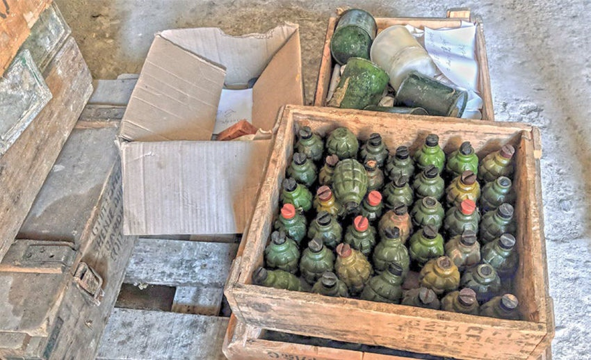 Date: 2019 Description: The United States is working with UNDP/SEESAC to more safely and securely store hand grenades and other munitions held by Albanian authorities. © Photo courtesy of the U.S. Department of State