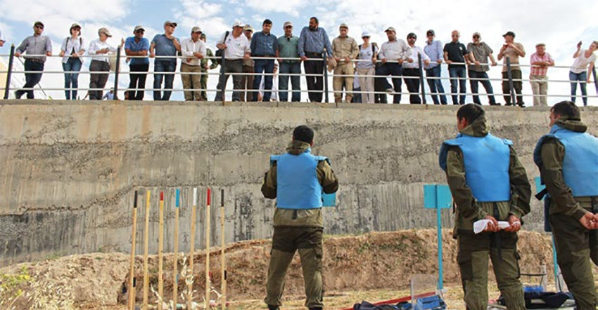Date: 2019 Description: SMC participants watch a field demonstration in Tajikistan during the 2018 Regional SMC for South and Central Asia. © Photo courtesy of CISR