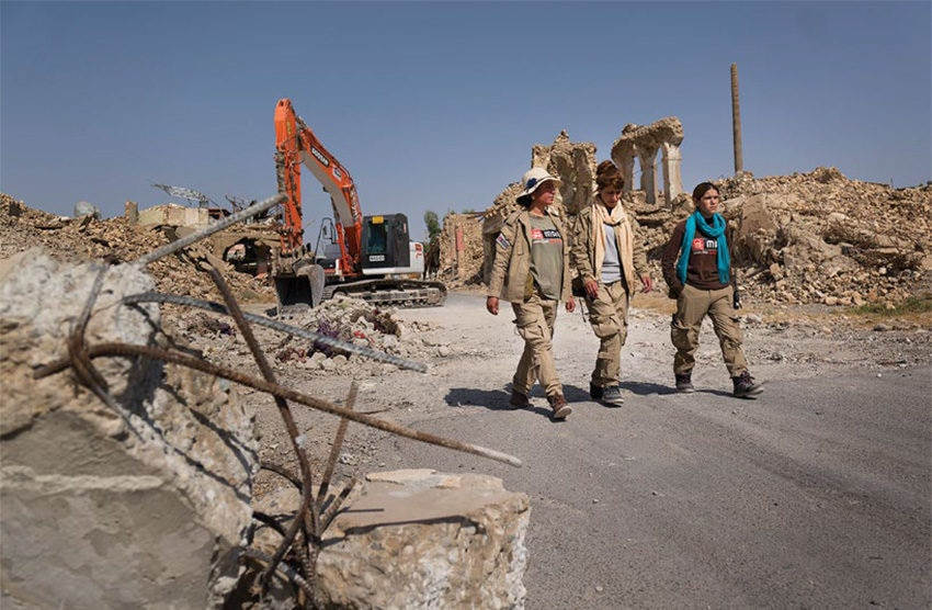 Date: 2019 Description: MAG's heavy machinery is used to clear IEDs laid by ISIS and rubble in Iraq's Sinjar District. © Photo courtesy of MAG