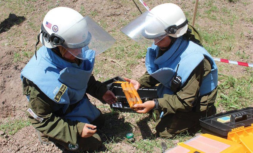Date: 2019 Description: EOD personnel prepare explosive charges in Tajikistan. © Photo courtesy of NPA