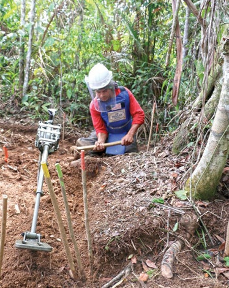 Date: 2019 Description: HALO conducted survey, clearance, and MRE in Colombia in 2018. © Photo courtesy of HALO
