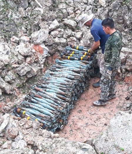 Date: 2019 Description: MAG conducts munitions destruction in Peru. © Photo courtesy of MAG