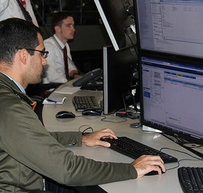 Man Working at the Foreign Affairs Cyber security Center