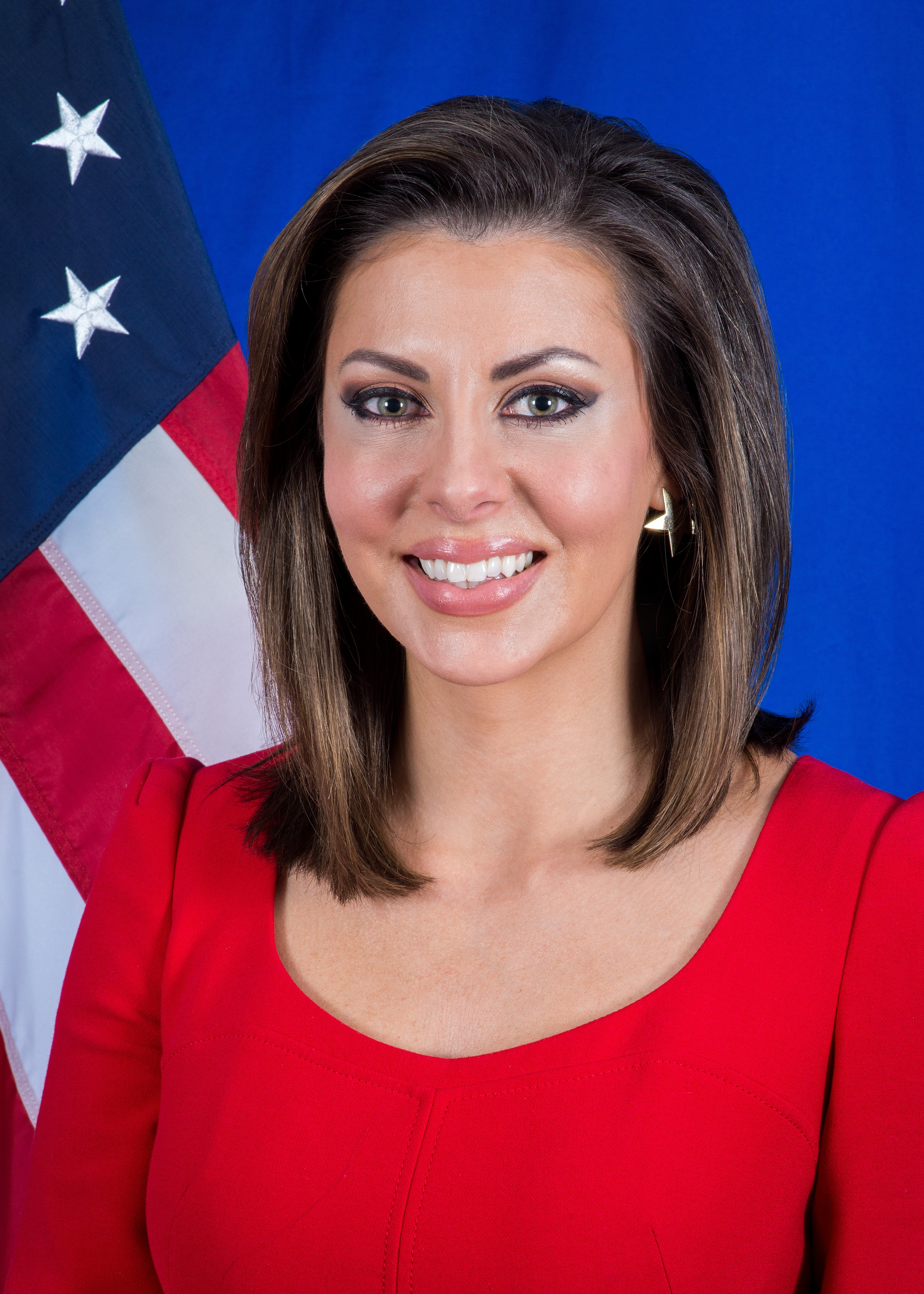 Morgan Ortagus was sworn in as U.S. State Department Spokesperson