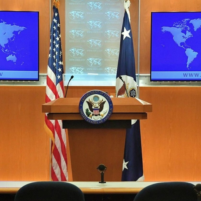 Press Briefing Room at the Department of State