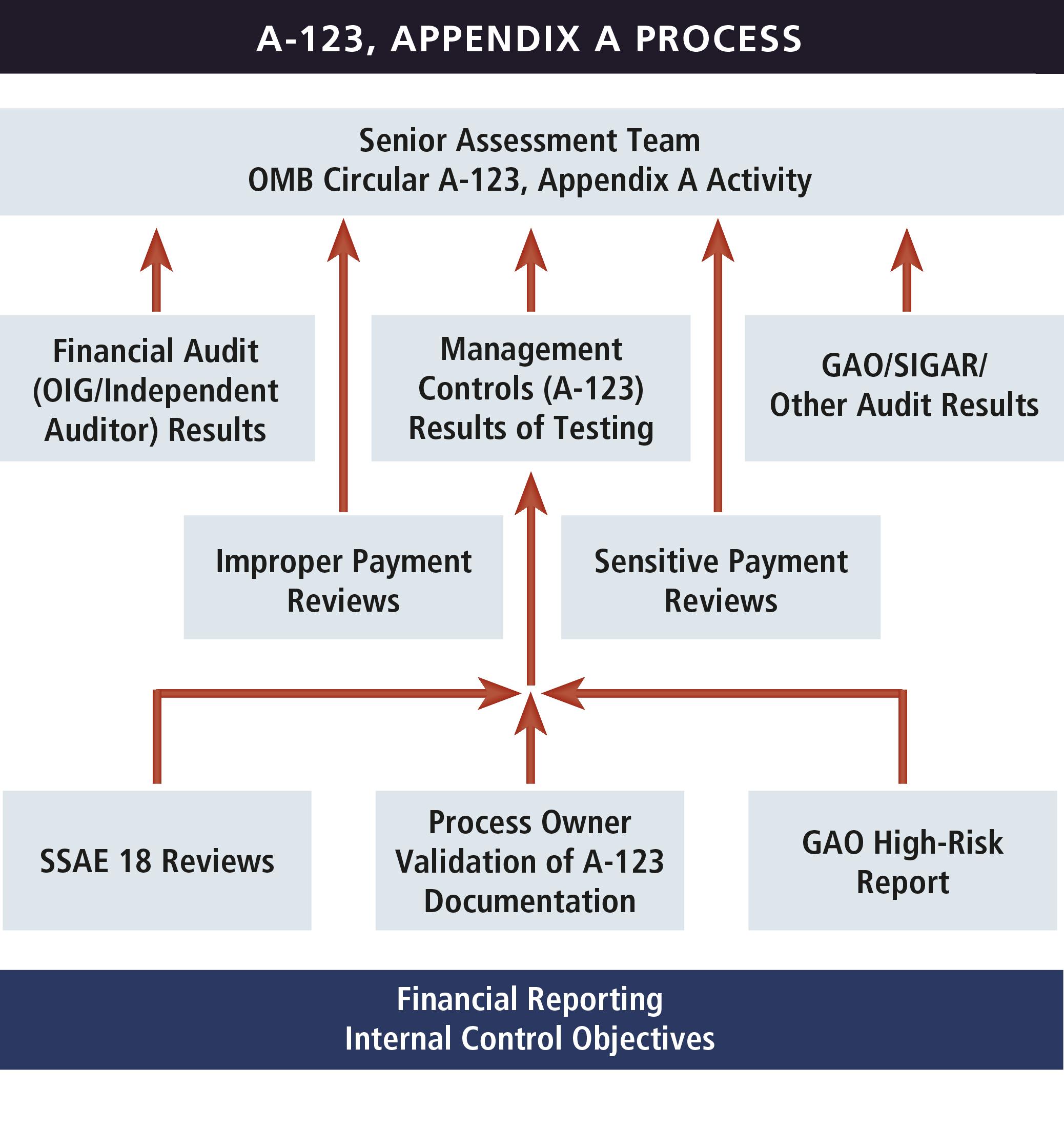 Diagram illustrating the A-123, Appendix A process.