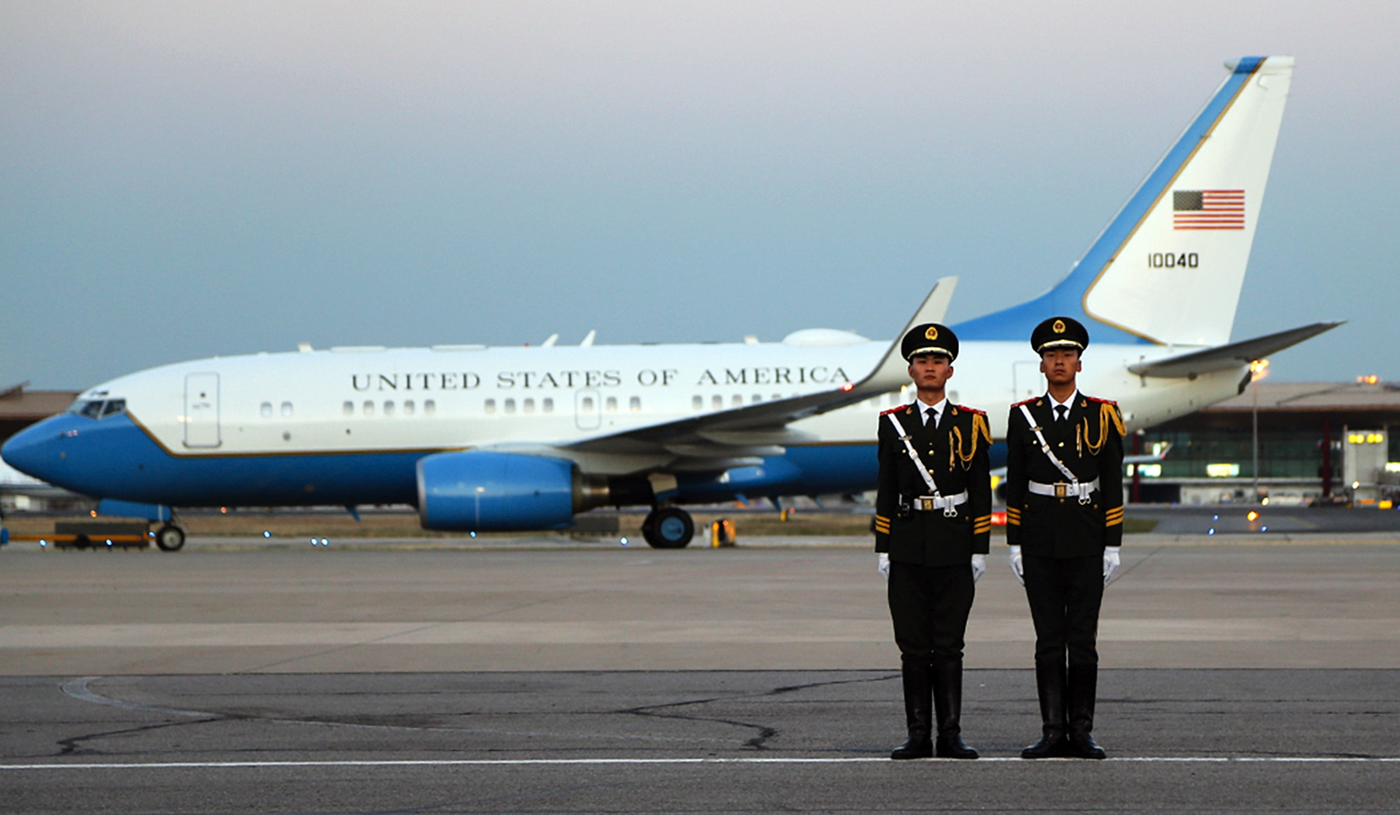Photo showing Secretary Pompeo departing Beijing, China, October 8, 2018. [Department of State]