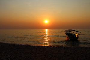Sunset at Lake Tanganyika in Gombe National Park - Tanzania - Image