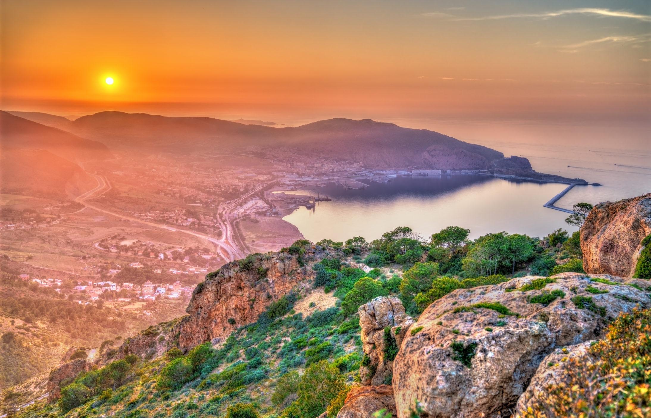 Sunset over the Mediterranean Sea in Oran – Algeria, North Africa – Image