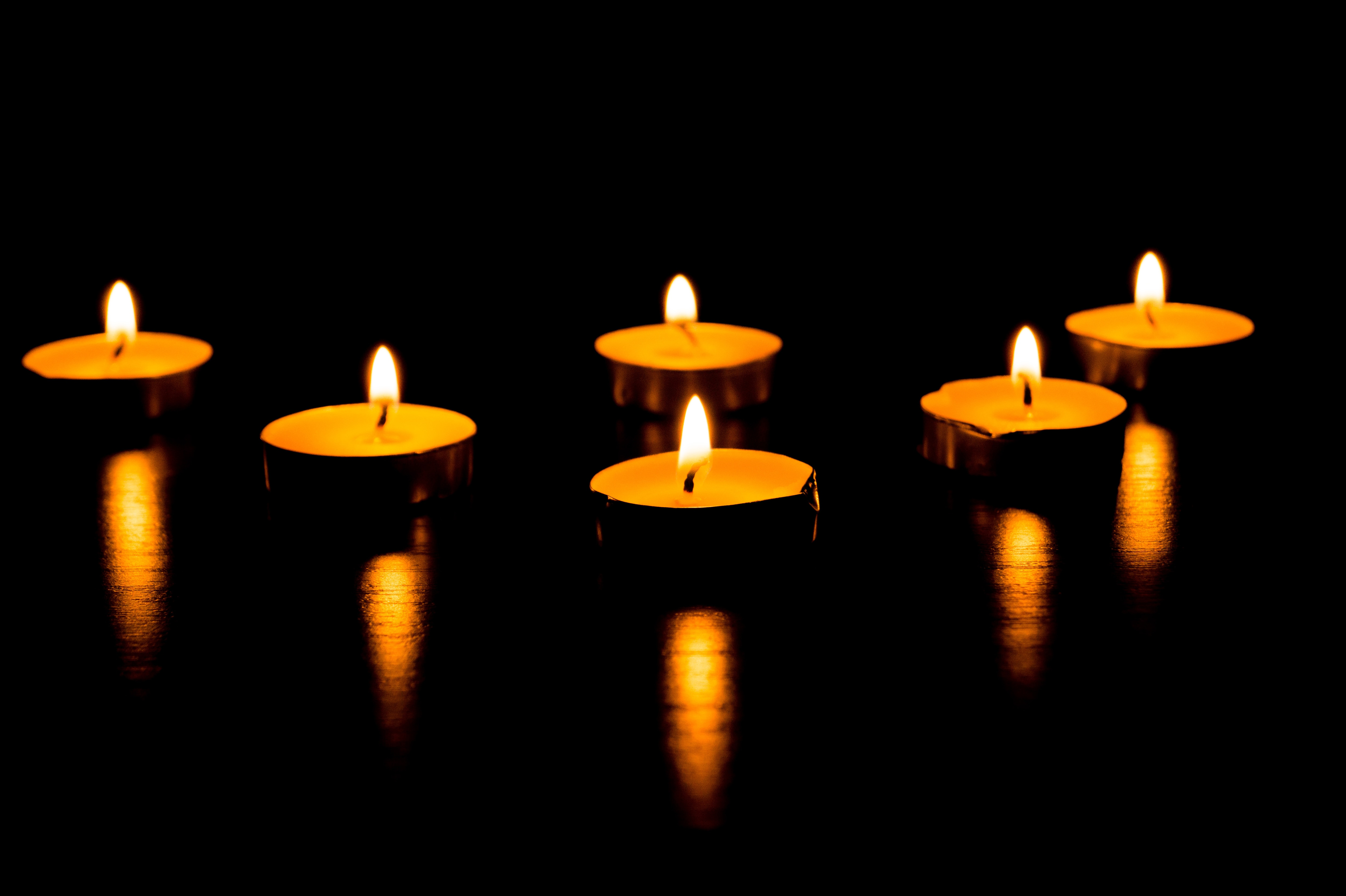 Burning candles - a symbol of International Holocaust Remembrance day 27 January - Image