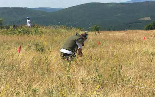 Date: 2018 Description: NPA, funded by PM/WRA, conducts a clearance training exercise in Kryshec, Kosovo. - State Dept Image