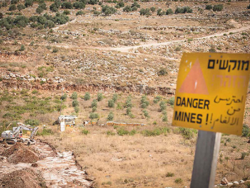 Date: 2018 Description: Using heavy equipment on a clearance task funded by PM/WRA, HALO demines in the West Bank. © Photo courtesy of HALO