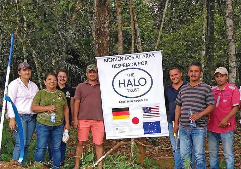 Date: 2018 Description: HALO formally releases cleared land in Colombia. © Photo courtesy of HALO.
