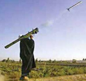 Date: 2018 Description: An Iraqi insurgent fires a MANPADS. - State Dept Image