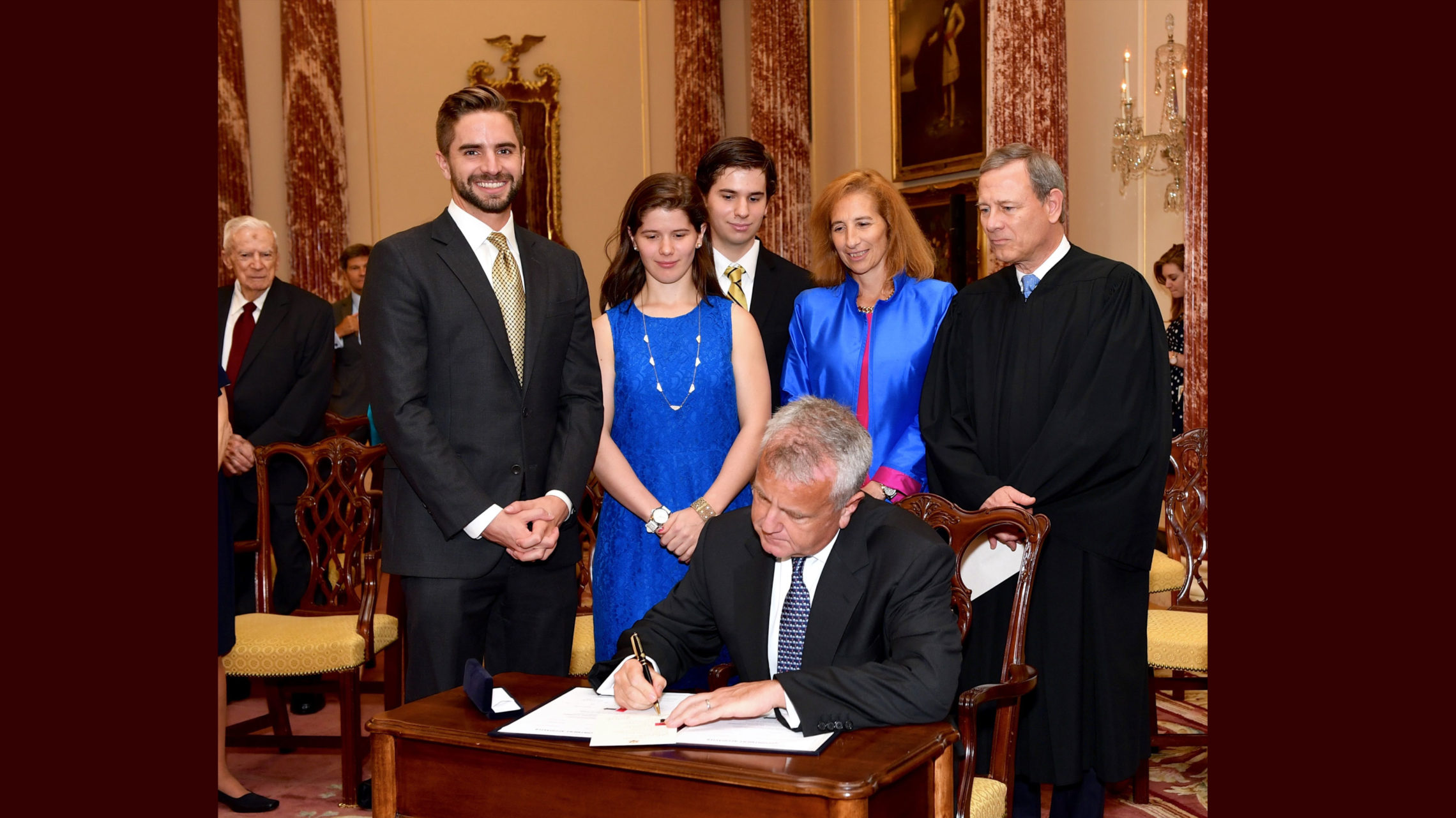 Deputy Secretary Sullivan Signs His Appointment Papers at his Swearing-in Ceremony in Washington