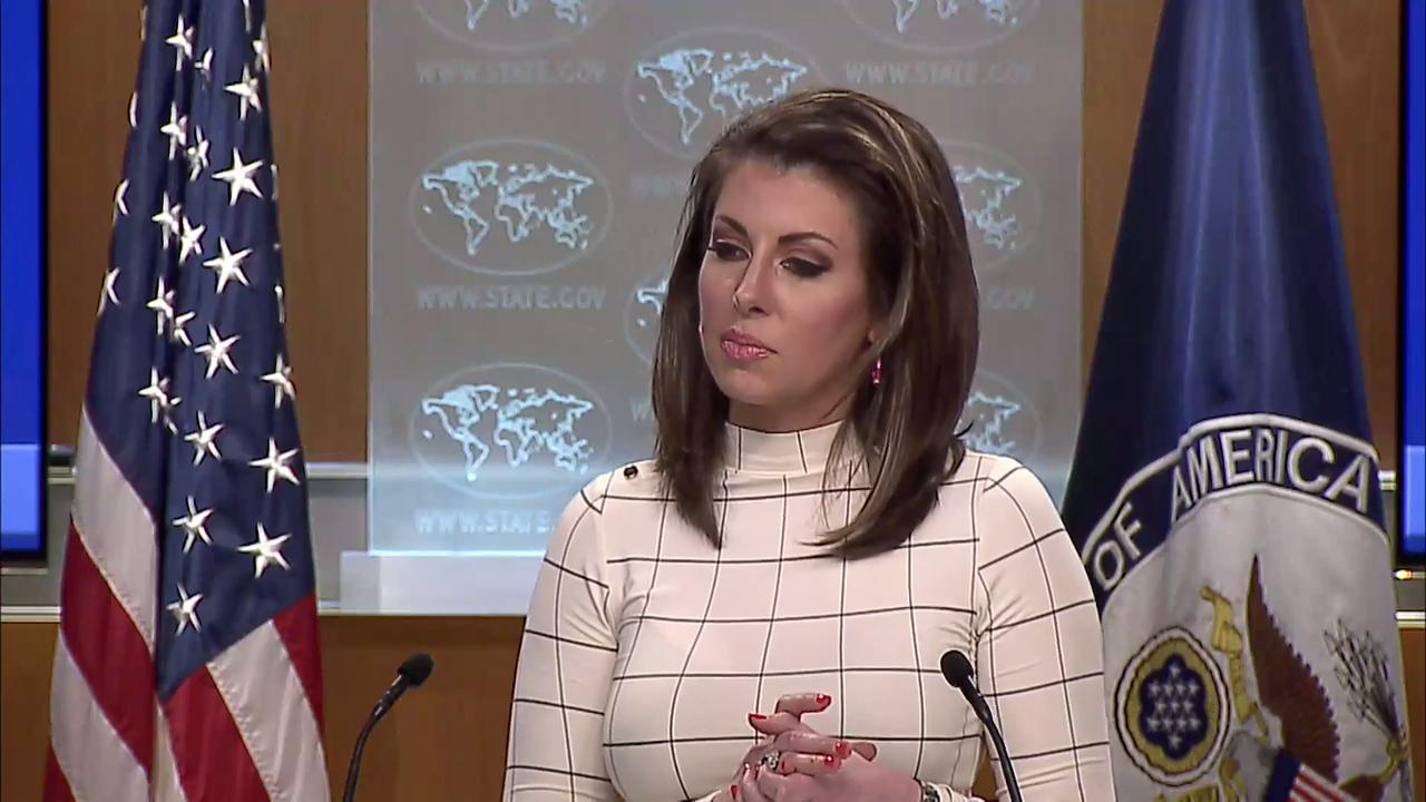 June 17, 2019: Spokesperson Morgan Ortagus leads the Department Press Briefing, at the Department of State.