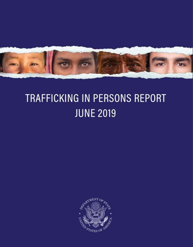 2019 Trafficking in Persons Report Cover