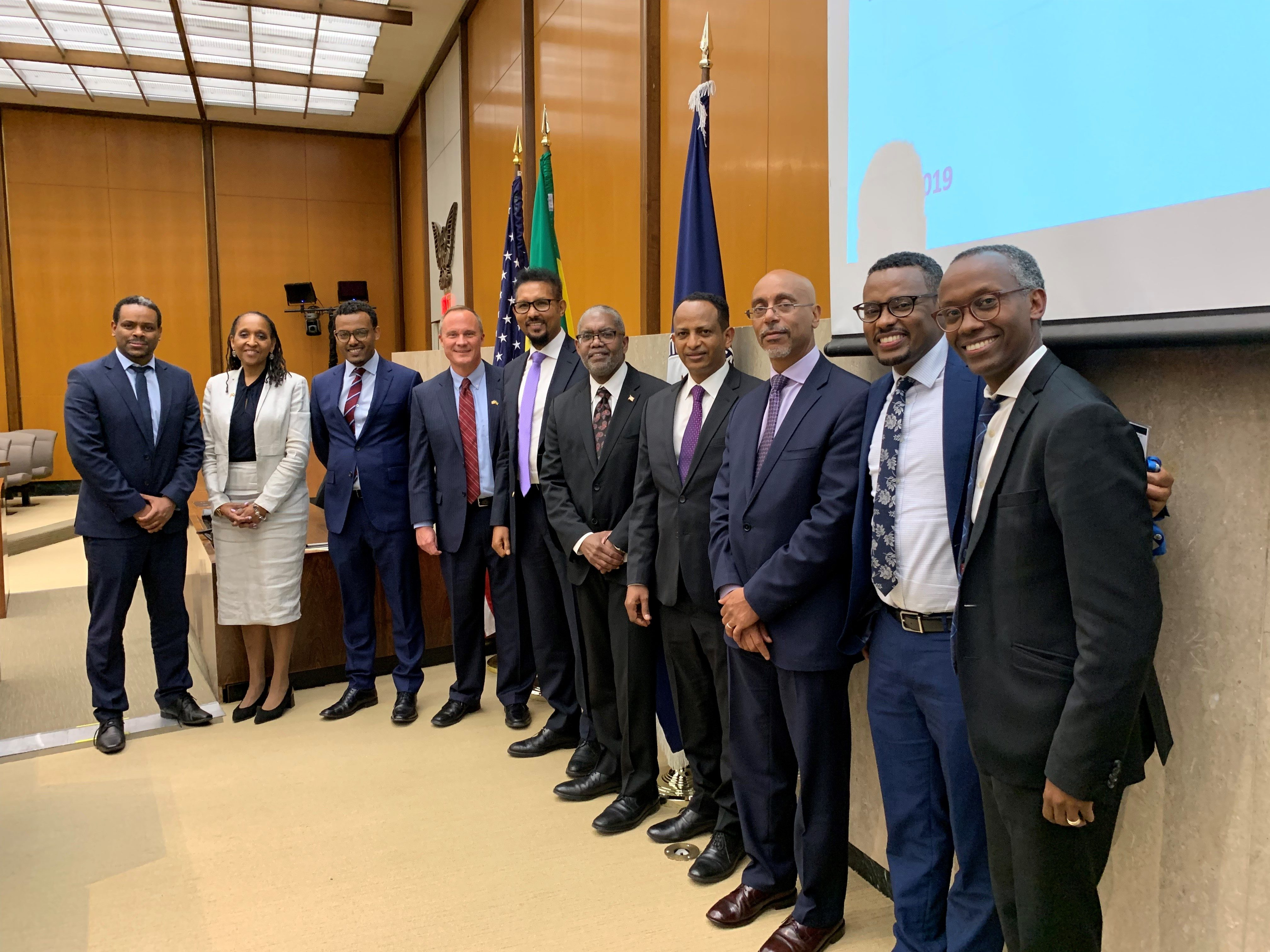 Ethiopian Delegation officials convened with State Department officials to discuss American investment opportunities in Ethiopia at the 2019 Ethiopian Partnerships Forum.