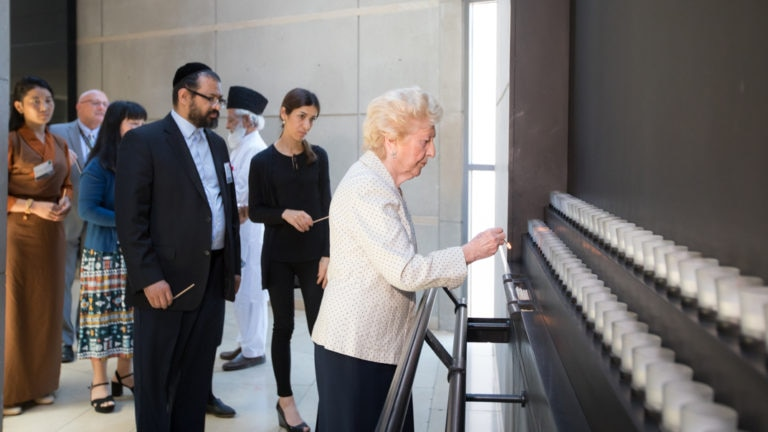 15 July 2019, Participants Of The 2019 International Religious Freedom (IRF) Ministerial Tour The Permanent Exhibition And Hold A Ceremony In The Hall Of Remembrance.