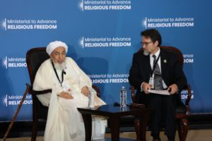 A Speaker at the Ministerial to Advance Religious Freedom