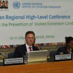 Ambassador Nathan A. Sales at UN CT Regional Conference in Nairobi, Kenya.