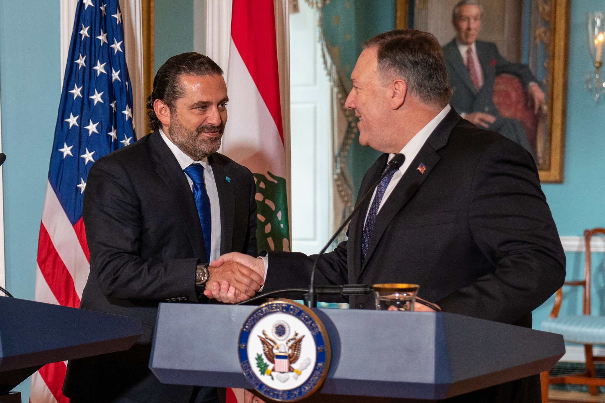 Secretary Pompeo and Lebanese Prime Minister Hariri Deliver Statements to the Press