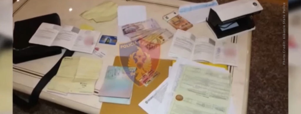 Documents seized by Albania State Police as part of Operation One if by Land.