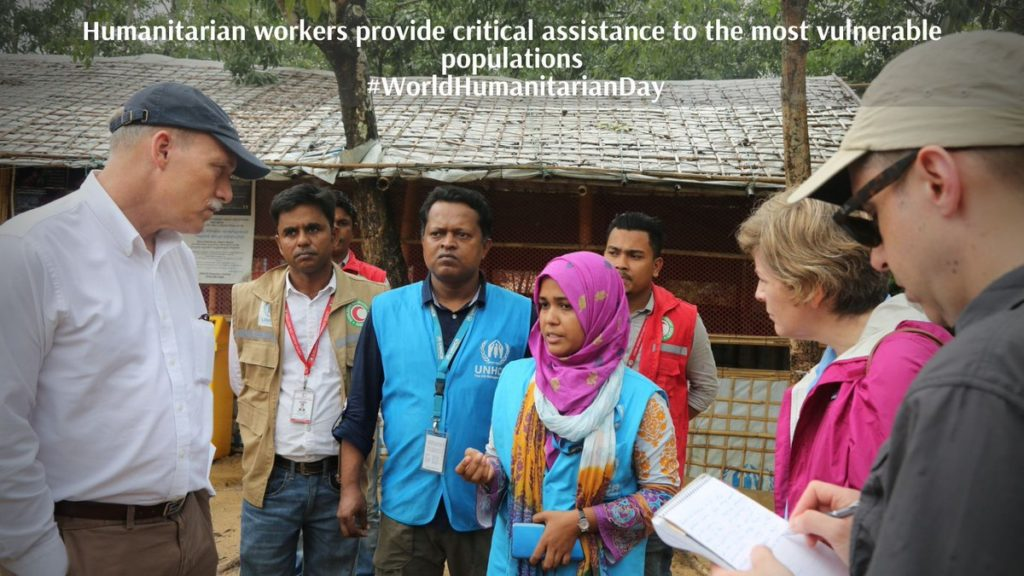 Photo of humanitarian workers