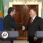 Secretary Pompeo And Brazilian Foreign Minister Ernesto Araujo