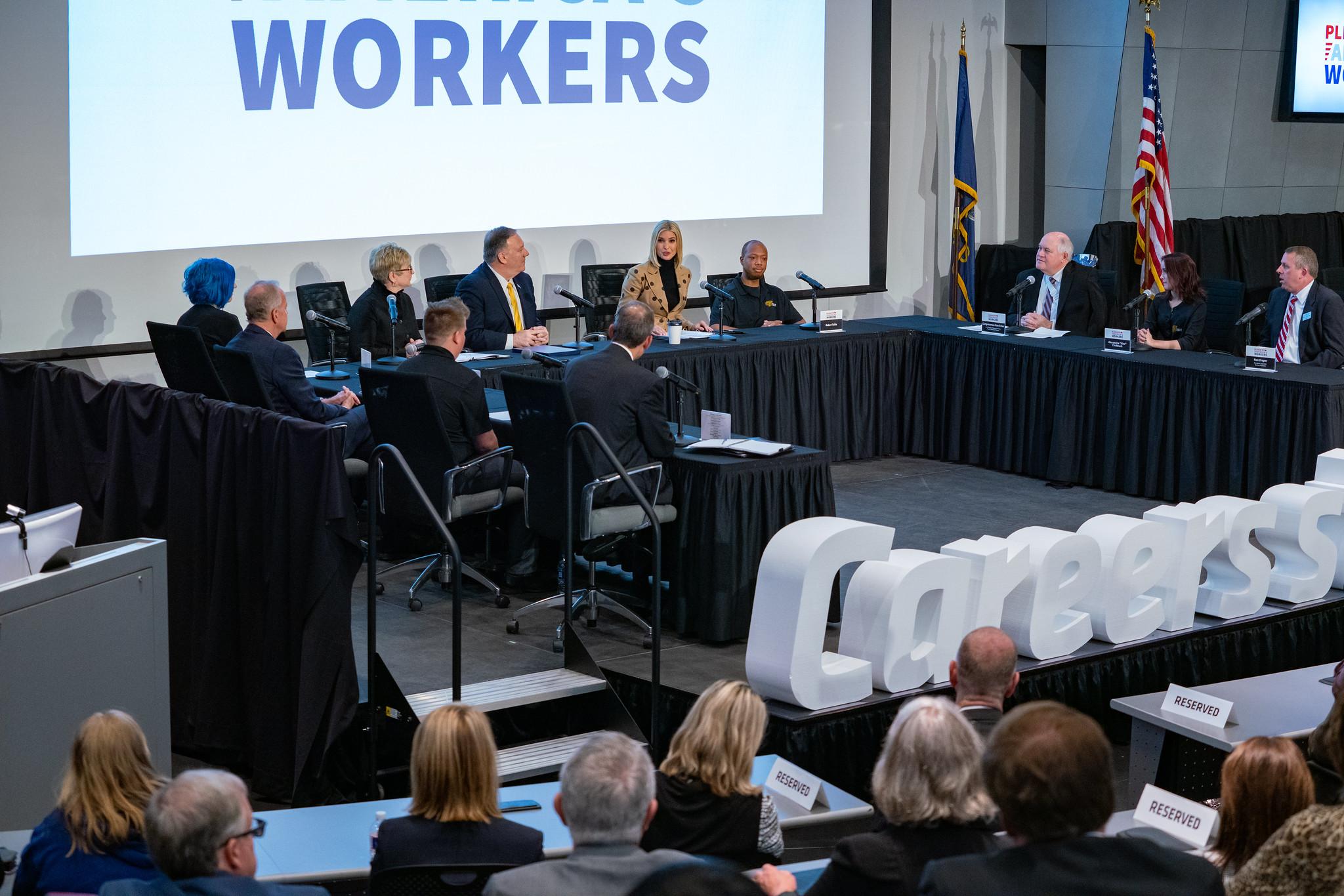 Secretary Pompeo and Senior Advisor to the President Ivanka Trump Participate in a Workforce Development Roundtable