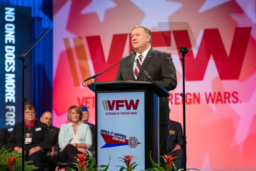 Secretary Pompeo Delivers a Keynote Address at the VFW Annual Convention