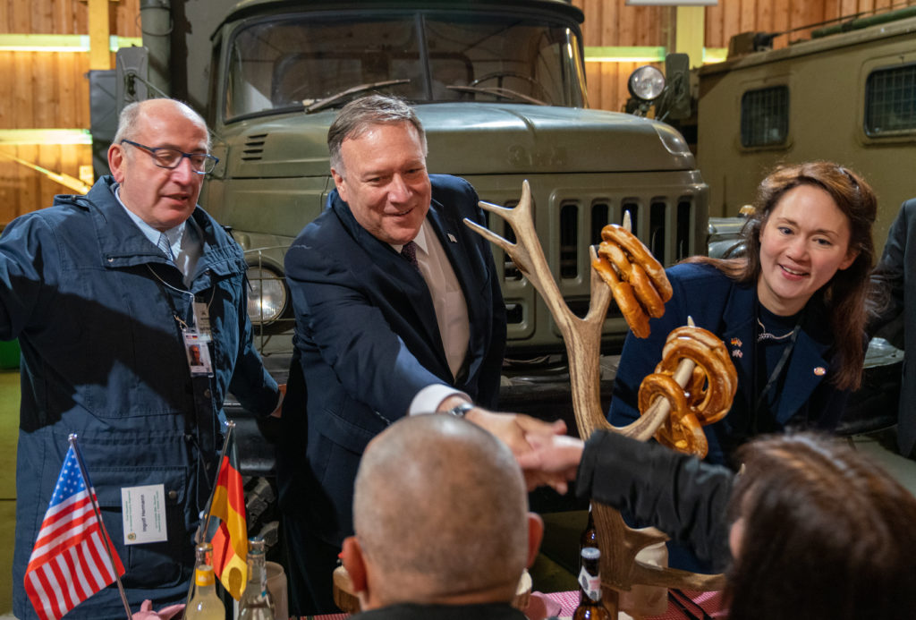 Secretary Pompeo attends a traditional German lunch with U.S. military veterans, in Modlareuth, Germany on November 7, 2019. [State Department photo by Ron Przysucha/ Public Domain]