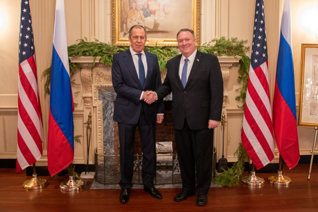 Secretary of State Michael R. Pompeo meets with Russian Foreign Minister Sergey Lavrov