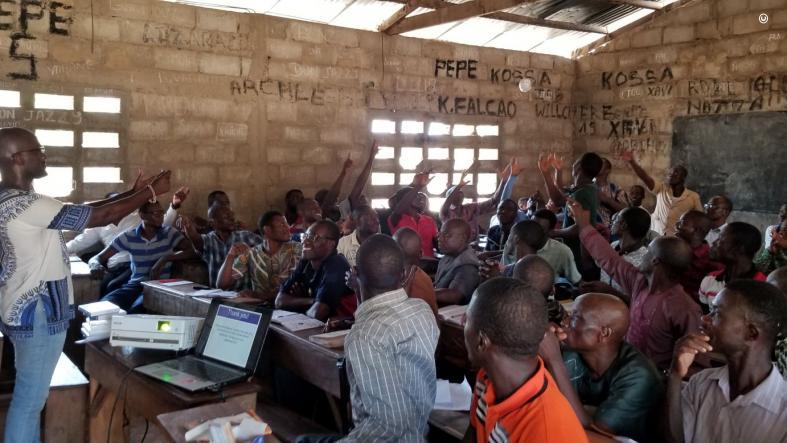 English Language Fellow Howard Johnson Leads A Teacher Training Workshop In Togo.