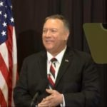 """Secretary Pompeo delivers a speech on """"Diplomatic Realism, Restraint, and Respect in Latin America"""" at the McConnell Center's Distinguished Speaker Series at the University of Louisville, in Louisville, Kentucky."""