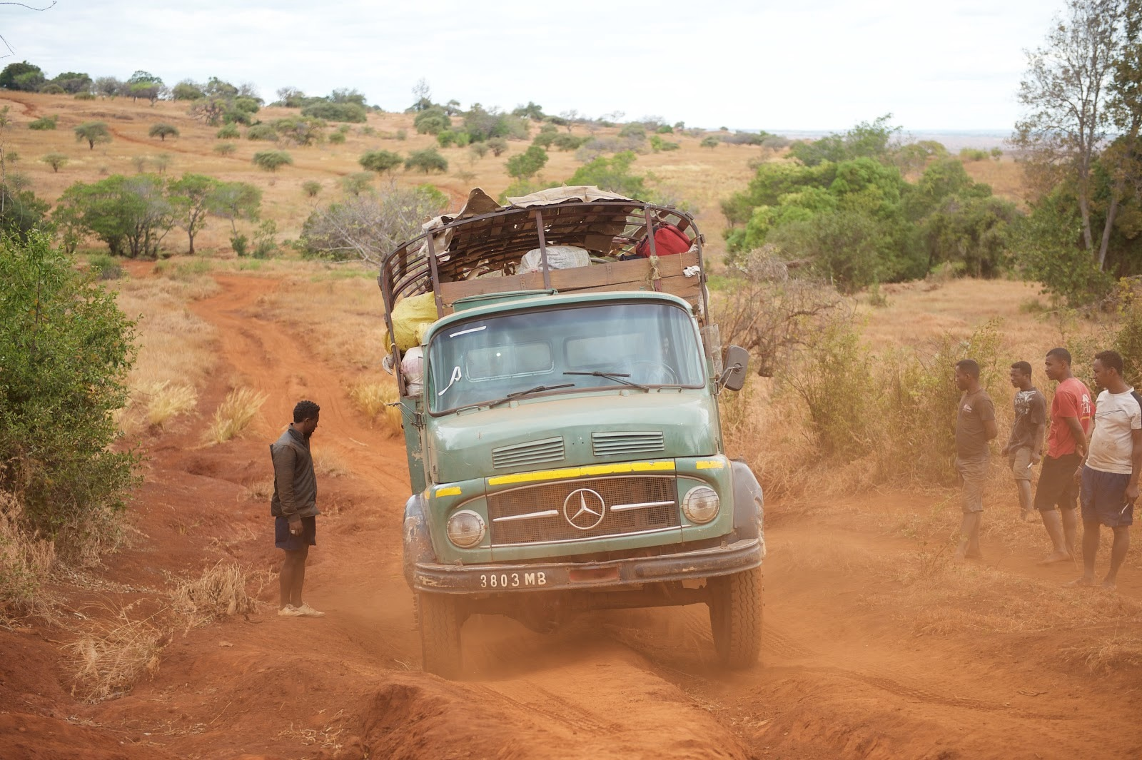 A truck carrying nets travels on an accessible road in Madagascar. (Lan Andrian, USAID Global Health Supply Chain Program—Procurement and Supply Management)