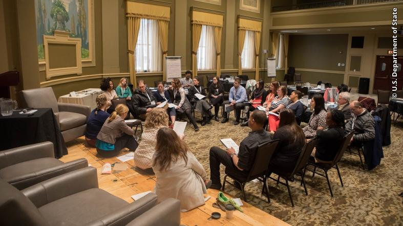 "Alumni TIES participants discuss the association between adverse childhood experiences, addiction, and mental health challenges during the ""Building Communities of Hope: Collective Action to Tackle Addiction"" seminar."