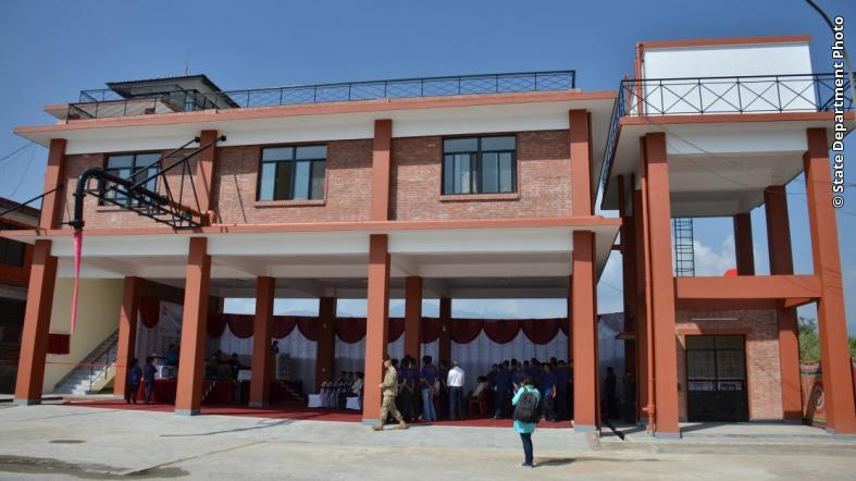 U.S. Pacific Command-funded U.S. Crash Fire Rescue Station at Tribhuvan International Airport in Nepal.