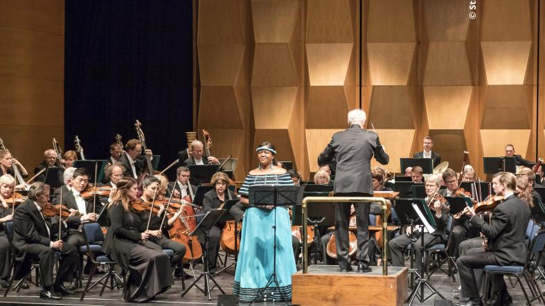 "The Minnesota Orchestra performed on its ""Music for Mandela"" tour in South Africa in August 2018"