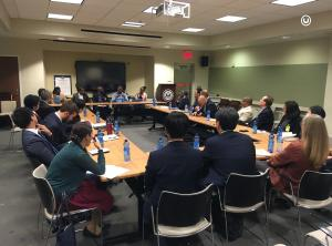 The POD participates in a discussion with five leading Ethiopian entrepreneurs at U.S. Embassy Addis Ababa.
