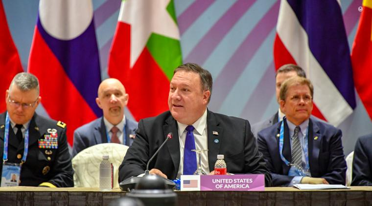 Secretary Pompeo at the ASEAN-related Ministerial Meeting of the Lower Mekong Initiative.