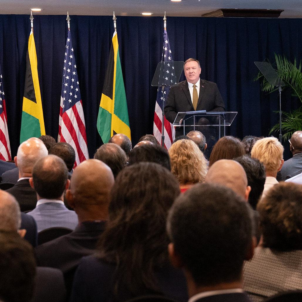Secretary Pompeo Speech In Kingston Jamaica